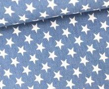 Jeansstoff - große Sterne - Hellblau