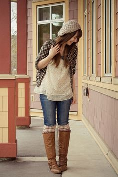 I'm in love with this hat. And the boots... http://www.girlandcloset.com