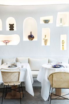 Oursin Restaurant: Jacquemus Brings a Taste of Mediterranean Summer to the Heart of Paris Bar Restaurant Design, Architecture Restaurant, Design Café, Backyard Bar, Mediterranean Design, Banquette Seating, Layout, Great Hotel, Living Styles