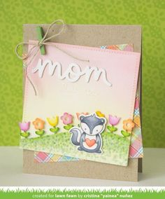 Lawn Fawn Intro: Stripey Backdrop and Flower Border (the Lawn Fawn blog)