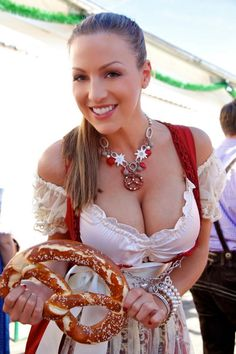 An amazing photo gallery of Jordan Carver at Oktoberfest in 2010, 2011, and 2012. She looks fine busting out of that sexy dirndl doesn't she?