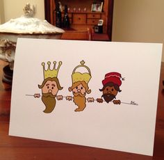 Wisemen: Christmas card by Sil.