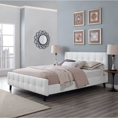 You'll love the Ophelia Queen Upholstered Platform Bed at Wayfair - Great Deals on all Furniture products with Free Shipping on most stuff, even the big stuff.
