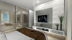 Exatamente a disposição da cama e do nosso quarto, atrás do Painel seria nosso closet!!!! ao lado esquerdo da tela tenho 2 janelas, o pé direito tem 4 m².