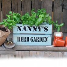 Personalised Planter with Kitchen Herbs
