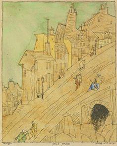 STEILE STRASSE (STEEP STREET) By Lyonel Feininger 1915