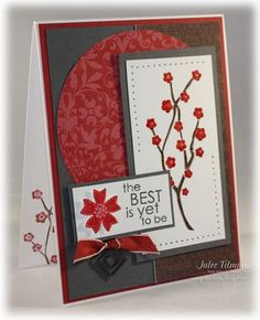 Beautiful colour combo + Eastern Blooms Stampin' Up set.