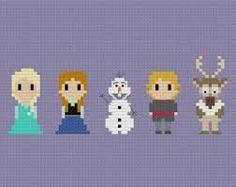 Resultado de imagem para cross stitch necklace Frozen