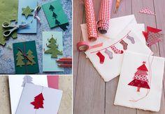 Handgemachte Weihnachtskarten - Selber basteln mit Stempeln und Bordüren - [LIVING AT HOME]