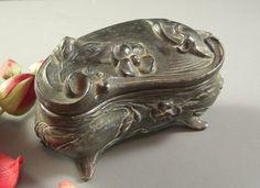 Antique Victorian Art Nouveau Jewelry Casket // by Successionary, $69.93