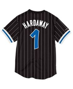 Mitchell   Ness Men s Penny Hardaway Orlando Magic Name and Number Mesh  Crewneck Jersey - Black S 0ee086dad