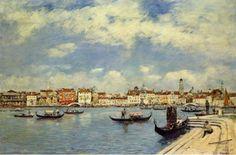 "Eugene Boudin, ""Venice,"" 1885 (via Wikipaintings)"