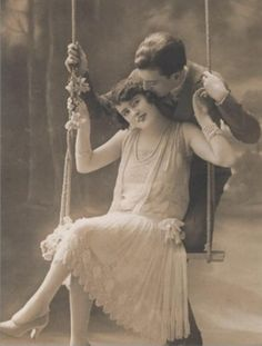 1920s French Postcard - makes really nice engagement photo