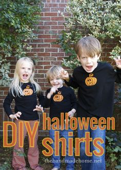 DIY halloween shirts : these are their spooky faces.