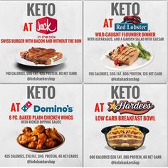 Super delicious keto recipes for today Need Keto fast food ideas? Keto Fast Food, Keto Snacks, Fast Foods, Keto Foods, Keto Desserts, Low Carb Meal, Keto Meal, Keto Restaurant, Diet Recipes