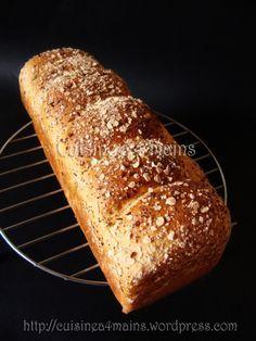 pain de mie à la farine de blé compléte - cuisine à 4 mains