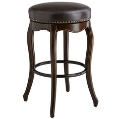 Claudine Backless Bar Stool - Brown | Pier 1 Imports