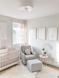 Charming Baby Girl Nursery Area Ideas (Images) - Welcome to our baby girl nursery style ideas image gallery showcasing great deals of nurseries for child women. nursery decor 50 Inspiring Nursery Ideas for Your Baby Girl - Cute Designs You'll Love Baby Room Design, Nursery Design, Playroom Design, Baby Nursery Decor, Baby Decor, Simple Baby Nursery, Garden Nursery, Blush Nursery, Girl Nursery Rugs