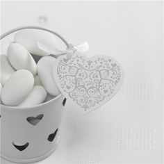 Vintage romance silver and white heart shaped tags perfect for wedding favours Handmade Wedding Favours, Wedding Favor Boxes, Favour Boxes, Vintage Romance, Gift Table, Vintage Tags, Family Gifts, Wedding Stationery, Heart Shapes