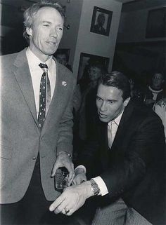 Clint Eastwood and Arnold Schwarzenegger   Rare celebrity photos