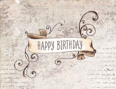 Wish your loved ones a #HappyBirthday in vintage style with this amazing classy #Birthday #Ecard.