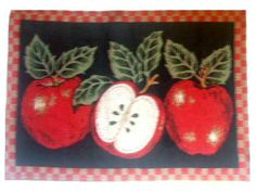 Apple Themed Placemats Red Apples $21.95