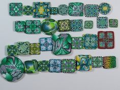 Green polymer clay cane slices | Explore doraclay1's photos … | Flickr - Photo Sharing!