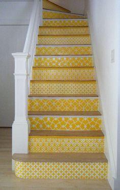 Love this idea for ascending the basement steps!