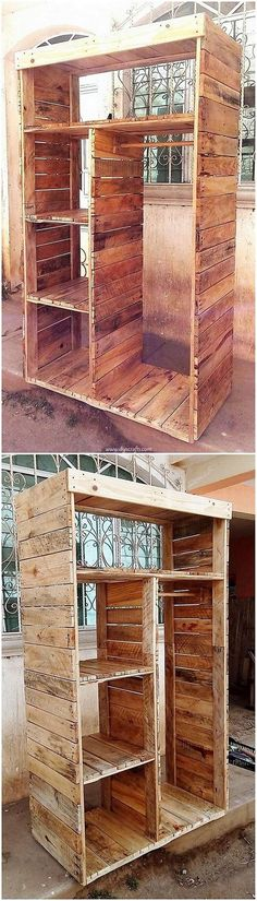 25 Cool Projects to Try with Recycled Pallets: Using the wood pallet custom material for your house furniture designing and thinking about up-cycling the old wooden pallets into. Wood Pallet Recycling, Recycled Pallets, Wooden Pallets, Pallet Projects Christmas, Diy Pallet Projects, Projects To Try, Pallet Bed Frames, Pallet Shelves, Simple Bed Designs