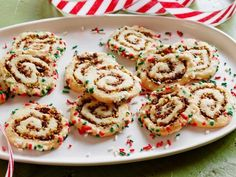 Get Jeff Mauro's Cherry Pistachio Pinwheel Cookies Recipe from Food Network