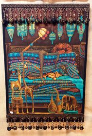 African Sleeping Beauty - My favorite piece because she looks like me :) x x Mixed media wall art comprised of African wax fabric adorned with glass beads, plastic beads and metal beads, mounted a on wood frame. Metal Beads, Glass Beads, Tribal African, Plastic Beads, Sleeping Beauty, Media Wall, Culture, Wall Art, Frame