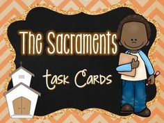 The Sacraments Tasks Cards Ccd Activities, Religion Activities, Teaching Religion, Catholic Religious Education, Catholic Bible, Catholic Kids, Catholic School, Seven Sacraments, Catholic Sacraments
