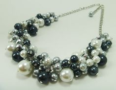 This is the jewelry the bridesmaids would be wearing with their gorgeous navy vintage mermaid style dresses.