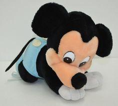 "Vintage Walt Disney World Baby Mickey Mouse Plush Blue Diaper Crawl 10"" #Disney http://stores.ebay.com/Lost-Loves-Toy-Chest/_i.html?image2.x=30&image2.y=11&_nkw=disney"