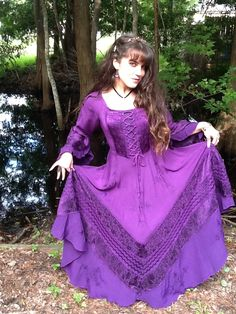 Here I am in my Bella Peasant Satin Lace-up Corset Gown in my favorite colour, purple passion. My Mom surprised me with it for making all A's last semester & making the Presidents List. Every time I wear it I feel like a Princess!