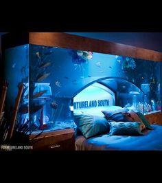 Dormir en compagnie des poissons: voilà l'idée insolite proposée par la société Acrylic Tank Manufacturing