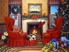 Christmas Hearth - John Sloane