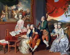The Gore Family with George, 3rd Earl Cowper by Johann Joseph Zoffany, c. 1775