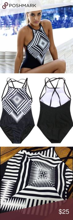 Kaleidoscope Strappy cute print punk chic swimsuit no trades   ✈️ ARRIVES  3-5 BUSINESS DAYS   Brand new!  ❗️❗️brand put for reference.  Size chart is there for a reason! VERY IMP TO CHECK - Poshmark DOESNT offer return on wrong sizes ⁉️ DONT SEE YOUR SIZE COMMENT! Nasty Gal Swim One Pieces
