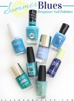 Blue Nail Polishes for Summer | Slashed Beauty
