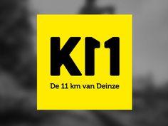 11km run logo