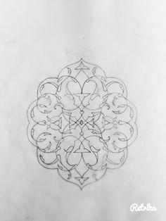 Islamic Art Pattern, Arabic Pattern, Pattern Art, Arabesque, Geometric Tattoo Design, Arabic Art, Turkish Art, Airbrush Art, Motif Floral