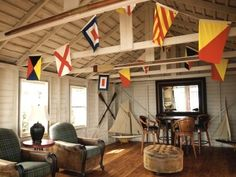 nautical party decor | ... be a living room dressed up with nautical signal flags for a party