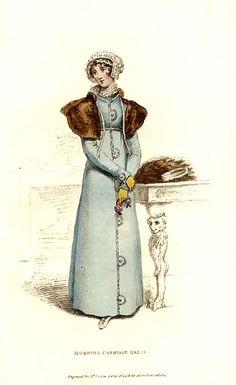 Morning carriage dress    Published in La Belle Assemblée, 1814