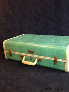 Vintage Suitcase Large Luggage Photography Prop Travel Vacation Suit Case Photo Prop Home Decor Green Storage Repurpose Antique Samsonite - http://oleantravel.com/vintage-suitcase-large-luggage-photography-prop-travel-vacation-suit-case-photo-prop-home-decor-green-storage-repurpose-antique-samsonite