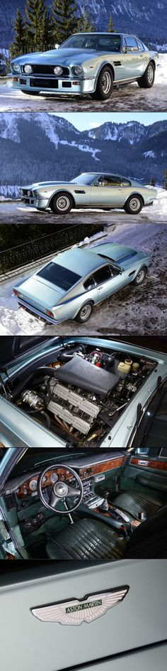 1986 Aston Martin V8 Vantage X-pack / UK / silver / 400hp+ / 137 produced / V580X / s/n 12515 / Porsche Crystal Green Metallic / 17-205