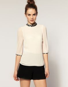 love this jewel accented top. So pretty.
