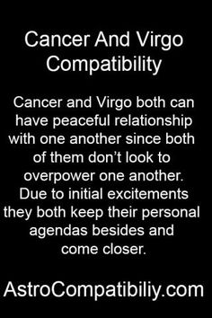 cancer guy and virgo girl