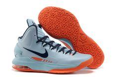 new styles 8a472 06e21 kevin durant shoes 2013 Nike KD V Ice Blue Orange Nike Kd Shoes, New Jordans