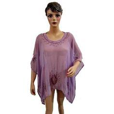 Caftan for Women Purple Embroidered Hippie Boho Georgette Kaftan (Apparel)  http://www.picter.org/?p=B007R0HGS0